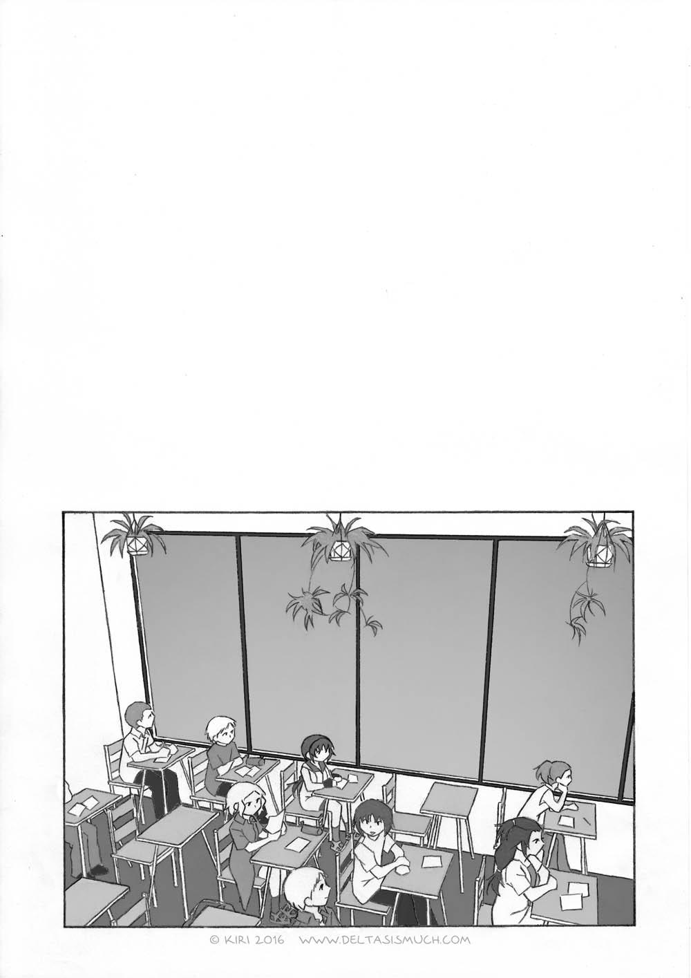(教室って、映えない割に描くのに手間がかかるね)
